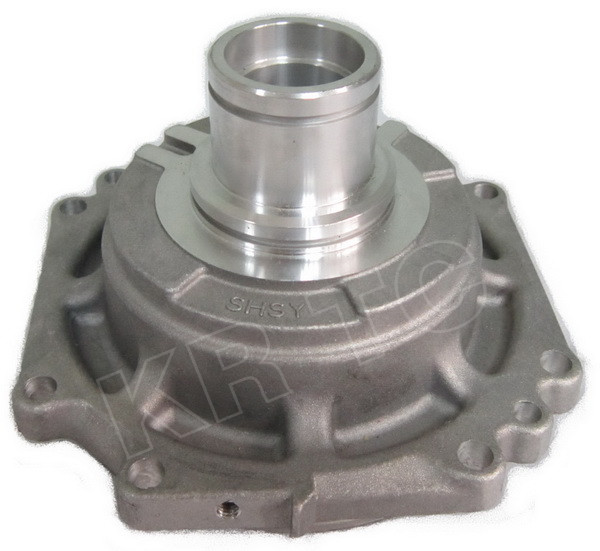 Automotive air conditioning compressor housing